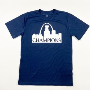 New STL Skyline Blues Champions Stanley Cup White